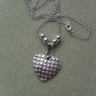 Silver Coloured Heart Pendant