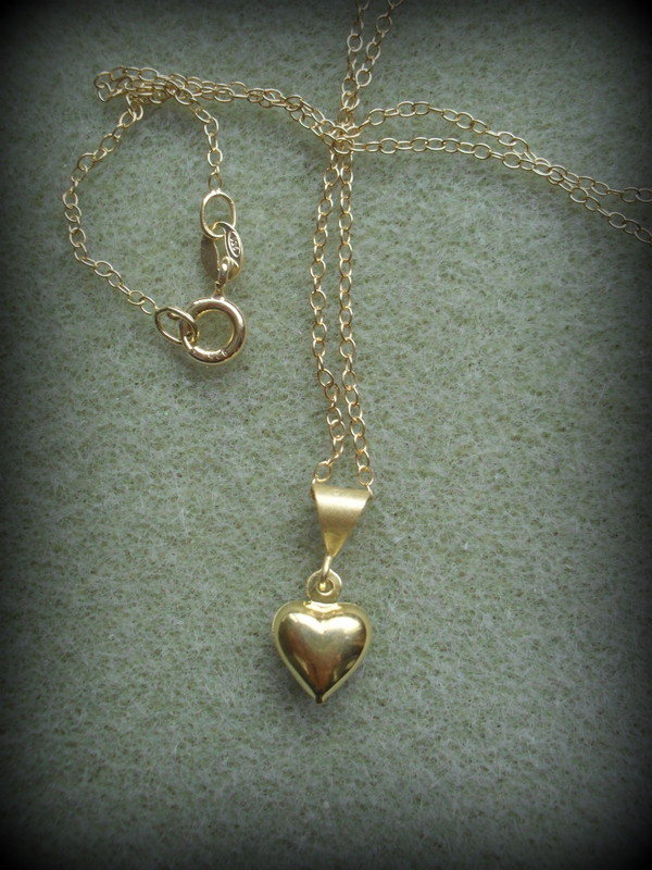 Gold Vermeil Dainty Heart Necklace