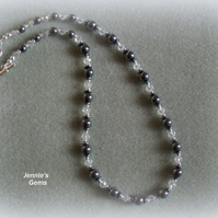 Haematite and Crystal Necklace
