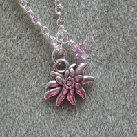 Edelweiss Flower Charm Necklace