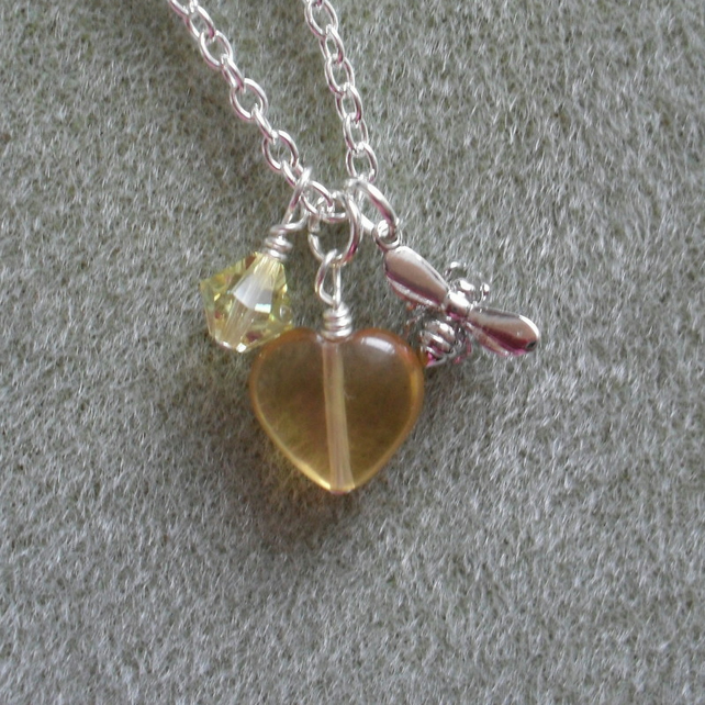 Bee,Wasp Charm Necklace