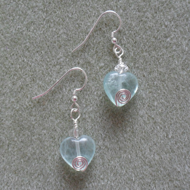 Sterling Silver Fluorite Earrings