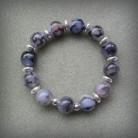 Stretch Agate Bracelet