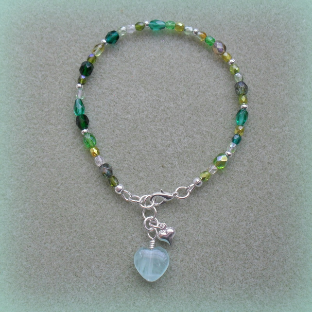 Glass Beaded Anklet AN005