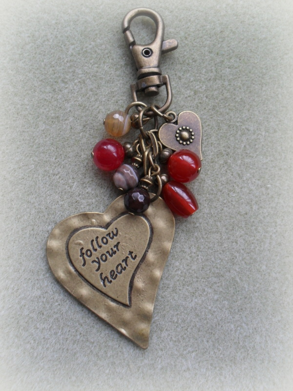 Follow Your Heart Bag Charm