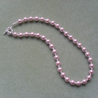 Pink Shell Pearl Necklace