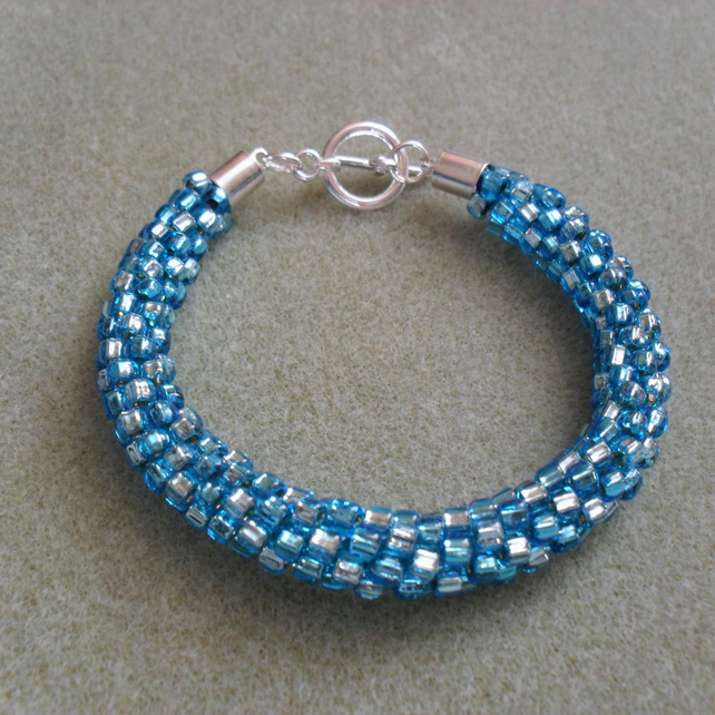 SALE Kumihimo Beaded Bracelet