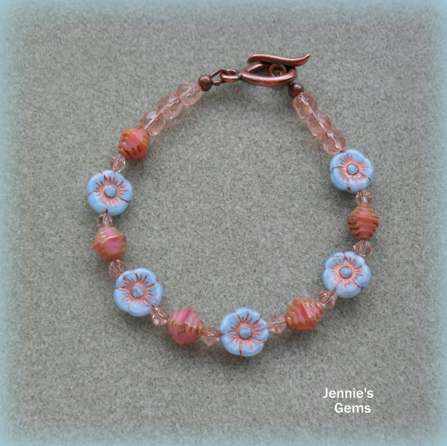 Czech Glass Beaded Bracelet