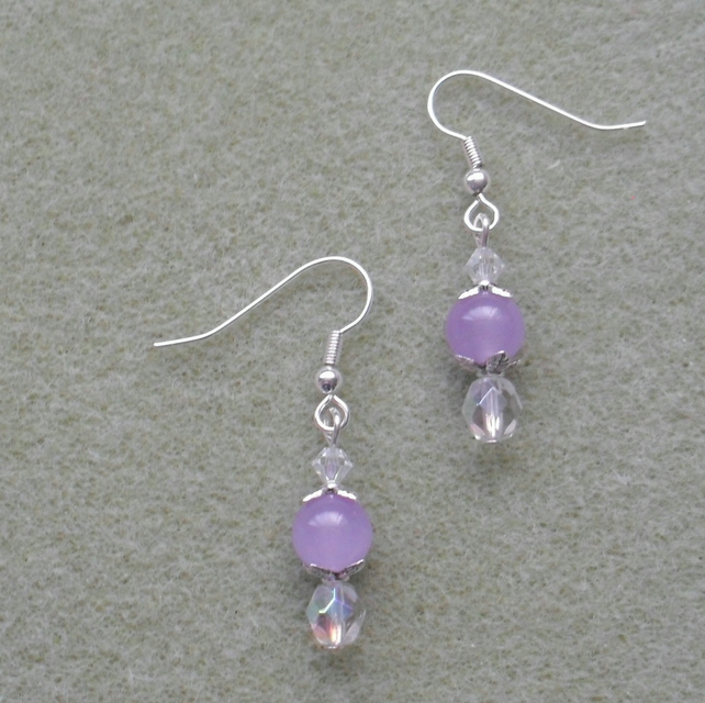 Lilac Quartzite Earrings