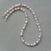 Cultured Pearl and Gemstone Necklace