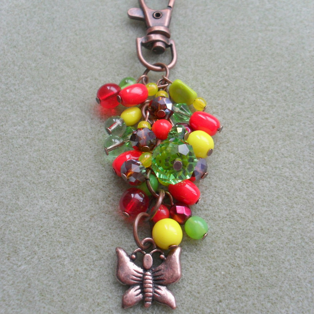 Colourful Butterfly Bag Charm