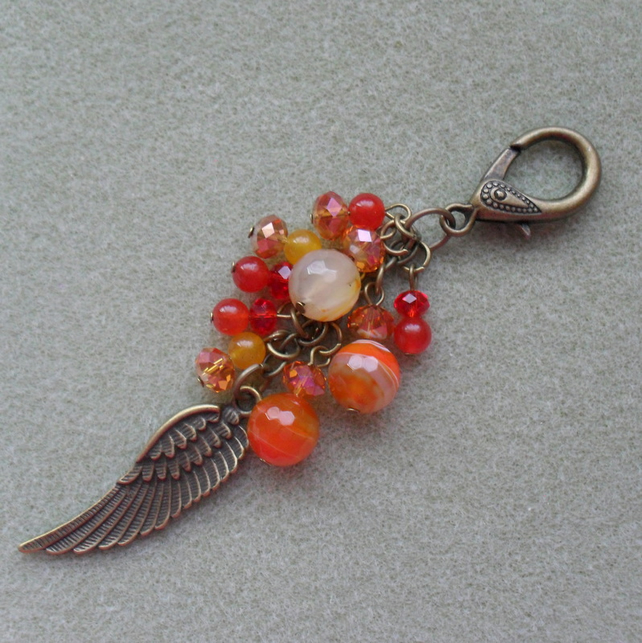 Angels Wing Bag Charm