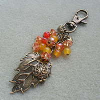 Lady Bird and Leaf Bag Charm