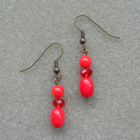 Red Czech Glass Earrings