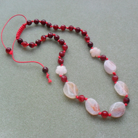 Agate Hand Knotted Necklace