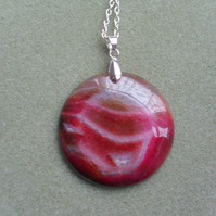 Agate Large Round Pendant