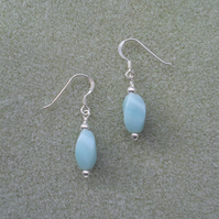 Earrings With Sterling Silver and Amazonite Earrings