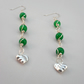 Heart Drop Earrings With Green Quartzite and Sterling Silver Ear Eires