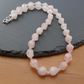 Sterling Silver Rose Quartz and amazonite  Necklace