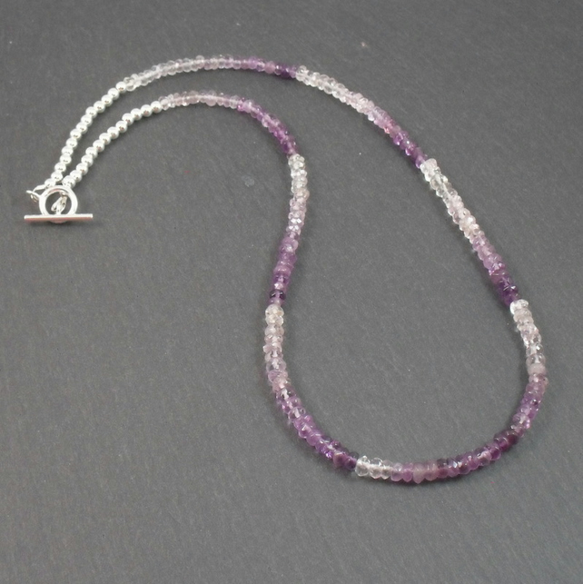 Sterling Silver Amethyst Necklace February Birthstone