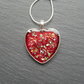 Red Resin Heart Pendant Valentines Gift
