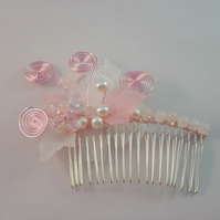 Crystal Flower Hair Comb HC031