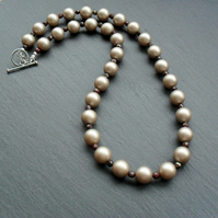 Shell Pearl and Marcasite Vintage Style Necklace
