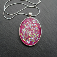 Large Lilac Resin Pendant