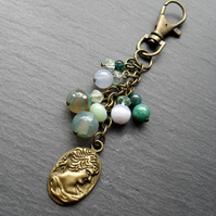 Semi Preciuos Gemstones Bag Charm