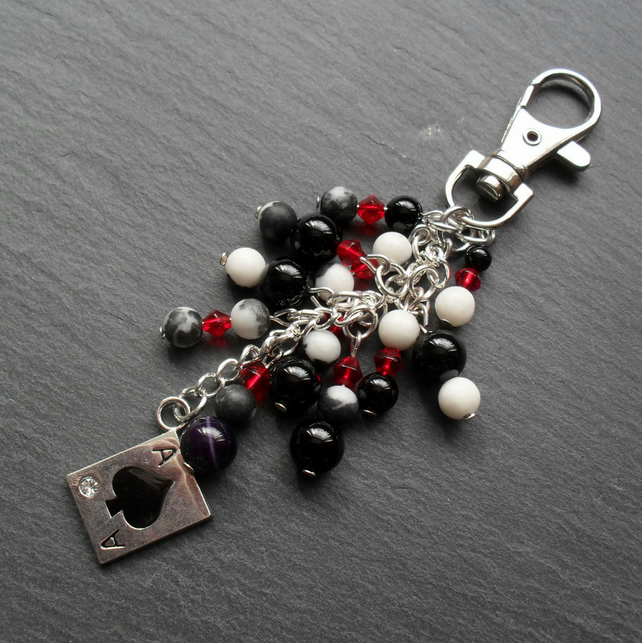 Ace of Spades Bag Charm