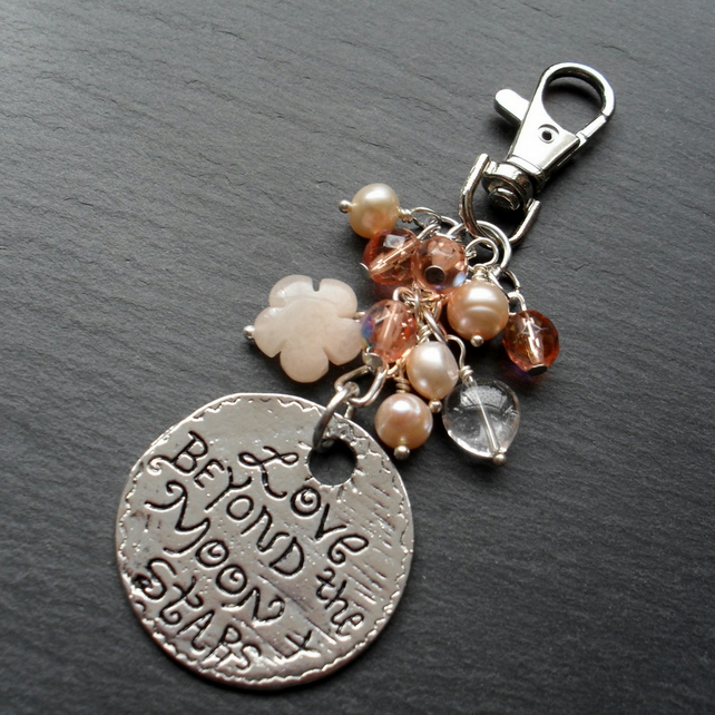 Moon and Stars Bag Charm BA019