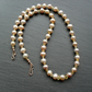 Champagne Freshwater Pearls Citrine Semi Precious Gemstones Gold Filled Necklace