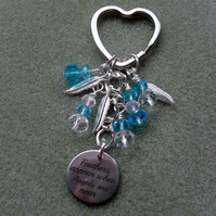 Guardian Angel Keyring Charm