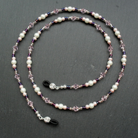 Pink White and Purple Spectacle Chain