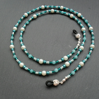 White and Teal Spectacle Chain
