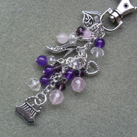 Bag Charm With Shoe and Handbag Charm Silver Tone