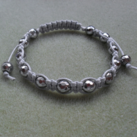 Macrame Bracelet With Silver Coloured Haematite