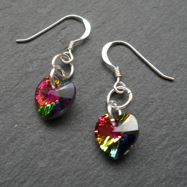 Crystal Heart Earrings With Crystal Hearts From Swarovski