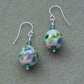 Handmade Glass beads and Gemstone Sterling Silver Drop Earrings