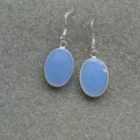 Pastel Blue Resin Drop Earrings Stocking Filler