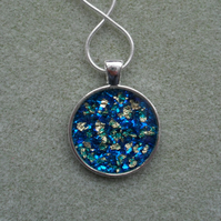 Blue and Gold Resin Pendant Gift Stocking Filler