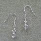 Dainty Drop Sterling Silver Earrings With Swarovski Crystals