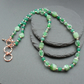 Shades Of Green Agate and Glass Beaded Necklace