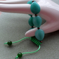 Green Quartzite Knotted Macrame Style Bracelet