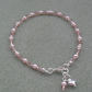 Pink Glass Pearl and Crystal Beaded Anklet
