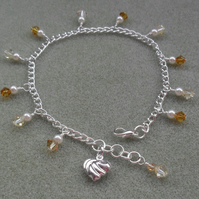 Crystal Silver Plated Anklet FREE P&P IN UK