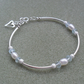 Sterling Silver Sky Blue Topaz and Freshwater Pearl Bracelet