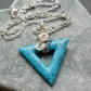Blue Howlite Semi Precious Gemstone Wire Wrapped Pendant
