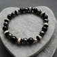 Black Agate Haematite Stretch Bracelet