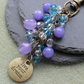 Live Your Dream Blue and Purple Bag Charm